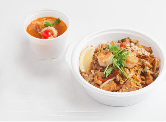 バッタイセット|PAD THAI SET A with TOM YUM GOONG or SOUP