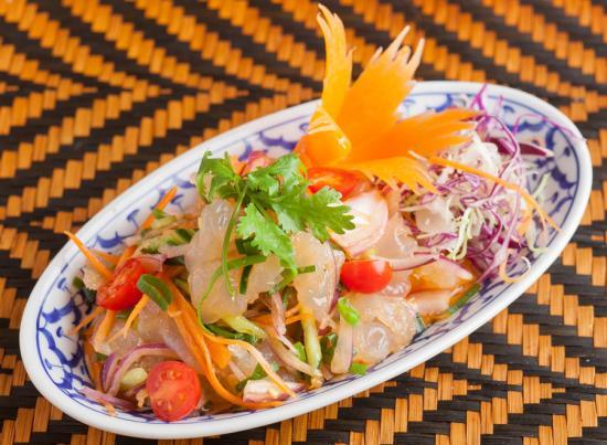 くらげのタイハーブサラダ|JERRY FISH SALAD WITH THAI HERB